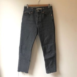 Levi's Wedgie fit size 25 ankle crop